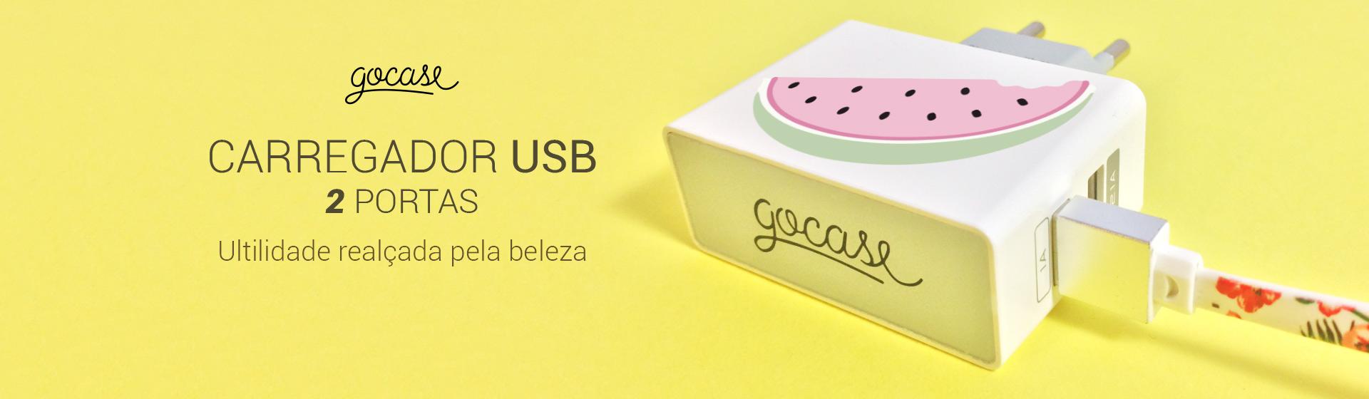 Carregador USB duas portas, utilidade realçada pela beleza