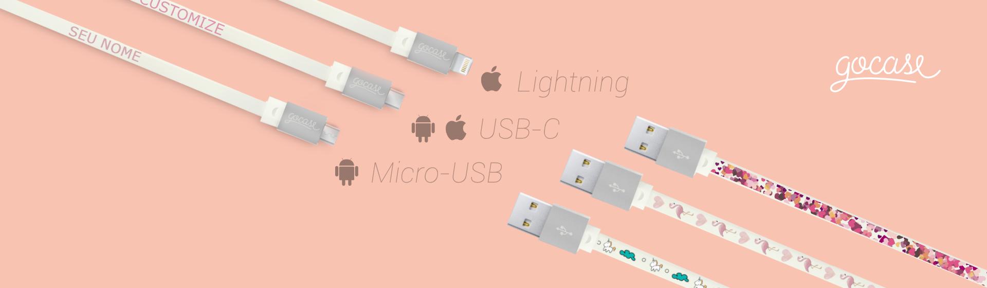 Lightining, USB-C, Micro-USB