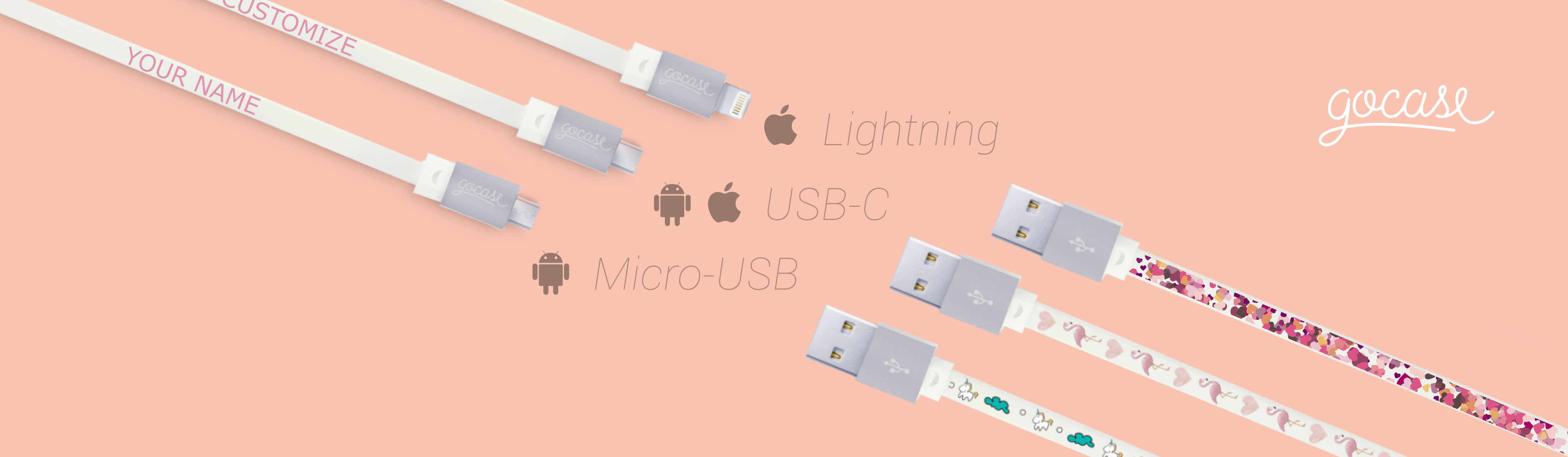 Lightining, USB-C, Micro-USB