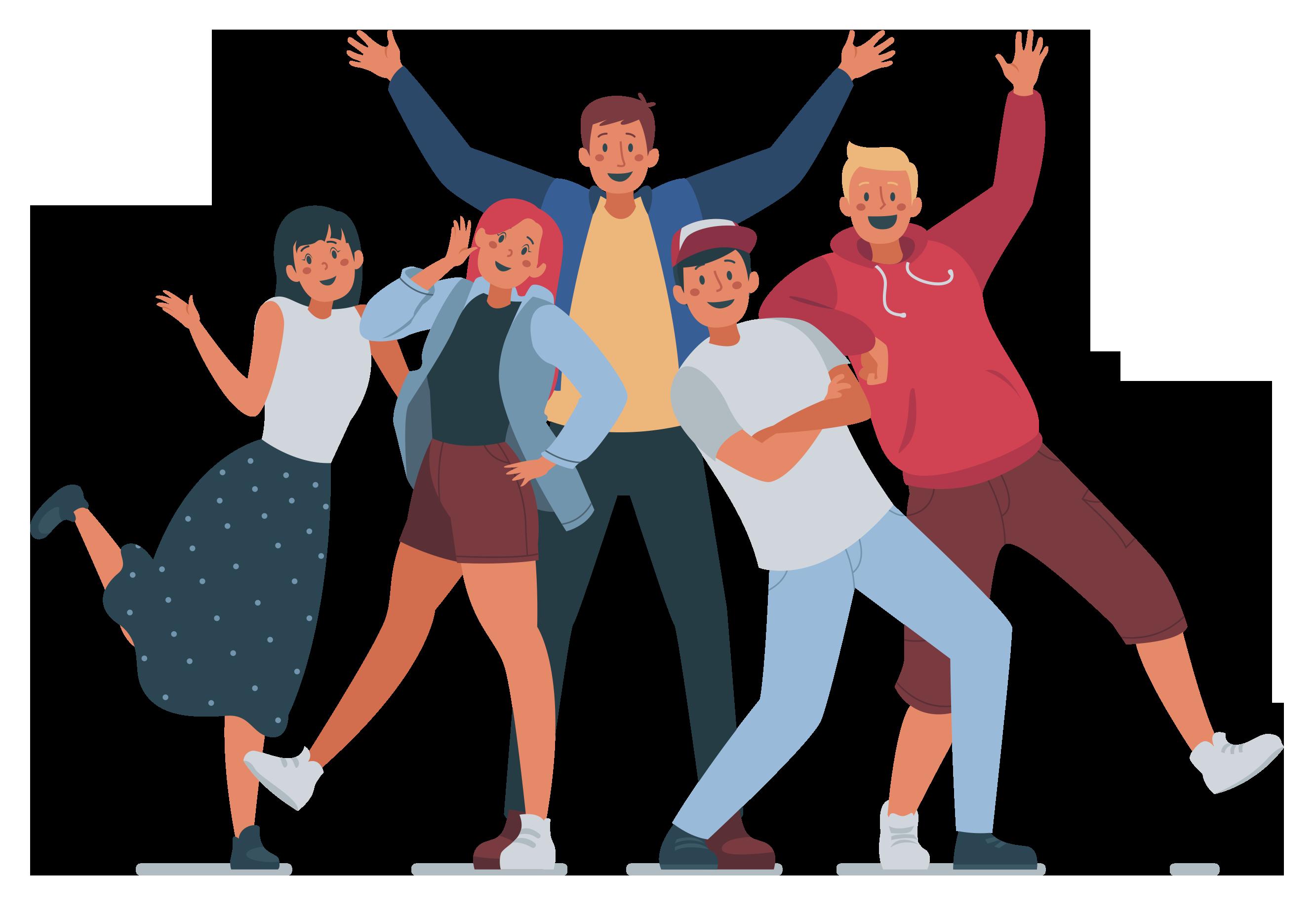 Grupo de amigos - Ilustração