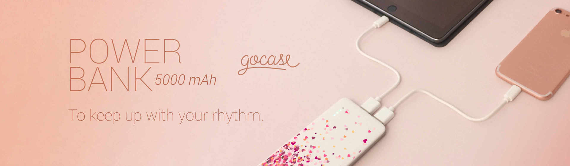 Powerbank 5000mAH to keep you up with your rhythm