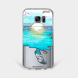 Blue Aquarelle  Phone Case