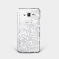 Capinha para celular Floral White