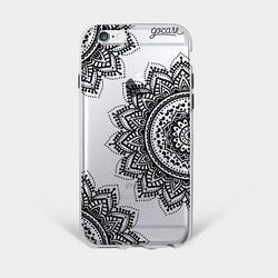 Black Mandala Phone Case