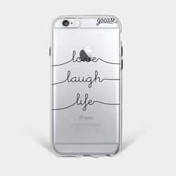 Love Laugh Life Phone Case