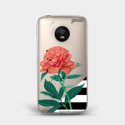 Capinha para celular Flor Listrada
