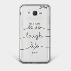 Capinha para celular Love Laugh Life