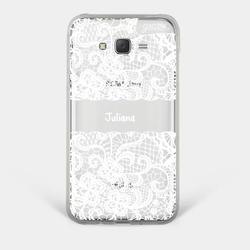 Capinha para celular Renda Branca