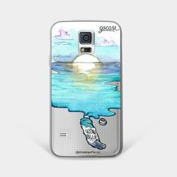 Capinha para celular Aquarela Azul