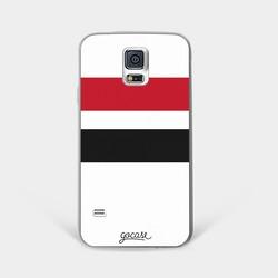 Team jersey - Black/Red/White Stripes Phone Case