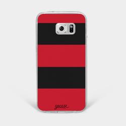 Team jersey - Red Black Horizontal Stripes Phone Case