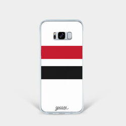 Team jersey - Black/Red/White Stripes Phone Case