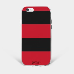 Team jersey - Red Black Horizontal Stripes Phone Case