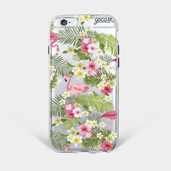 Flamingos and Flowers Phone Case