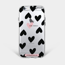 Black Hearts Phone Case