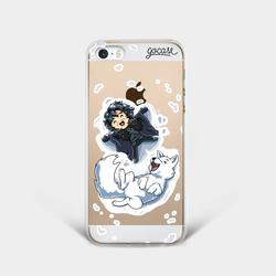 Jon & Ghost  Phone Case