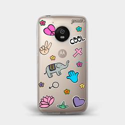Capinha para celular Patches Paz e Amor