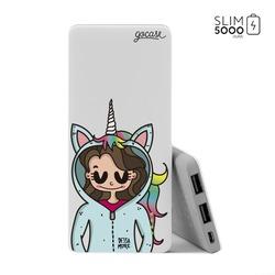 Power Bank Slim Portable Charger (5000mAh) - Unicorn Girl