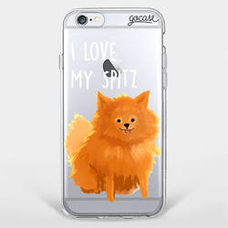 I Love My Spitz Phone Case