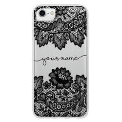 Case Lace Handwritten Black Phone Case