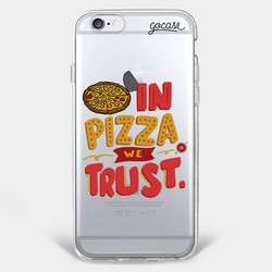 Capinha para celular Confiando em Pizza