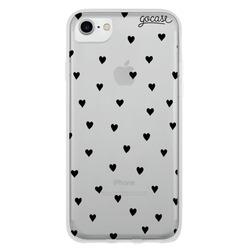 Pattern Black Hearts (No Custom) Phone Case