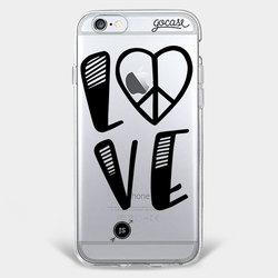 Capinha para celular Paz e Amor