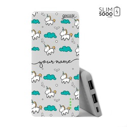 Power Bank Slim Portable Charger (5000mAh) - Unicorn Handwritten