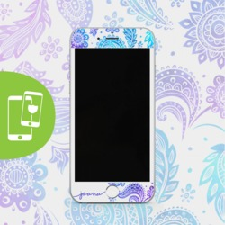 Handwritten Purple White Screen Protector - Tempered Glass