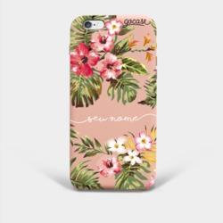 Capinha para celular Rosê Fascino - Floral Manuscrita