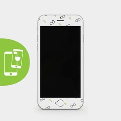 Harry Pattern White Screen Protector - Tempered Glass