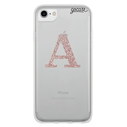 Capinha para celular Iniciais Glitter - Rosê Clean