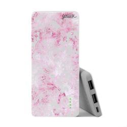 Power Bank Slim Portable Charger (5000mAh) - Pink Watercolor