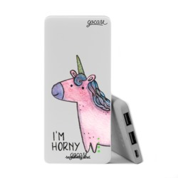 Power Bank Slim Portable Charger (5000mAh) - Pink Unicorn