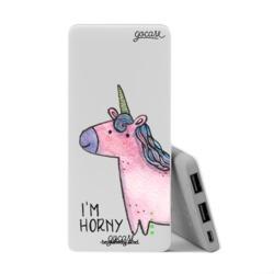 Power Bank Slim Portable Charger (5000mAh) - Pink Unicorn