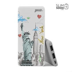 Power Bank Slim Portable Charger (5000mAh) - New York
