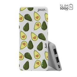 Power Bank Slim Portable Charger (5000mAh) - Happy Avocados
