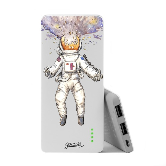 Power Bank Slim Portable Charger (5000mAh) - Astronaut