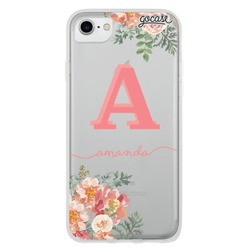 Floral Pink Initial Phone Case