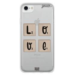 Capinha para celular Scrabble Love