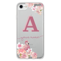 Flamingos Pink Initial Phone Case