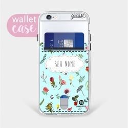 Capinha para celular Azul de Flores - Cartão