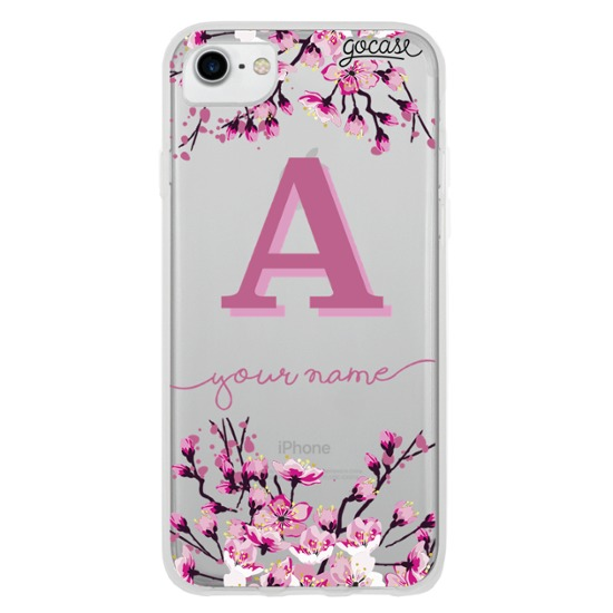 Cherry Blossoms Initial Pink