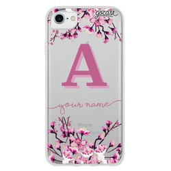 Cherry Blossoms Initial Pink Phone Case