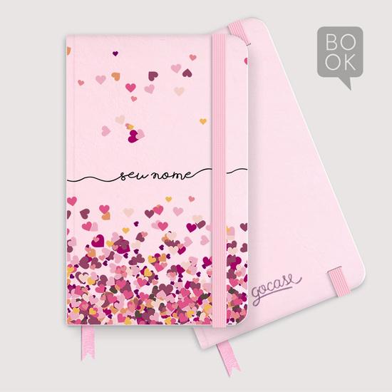 Sketchbook - Corações Flutuantes Manuscrito