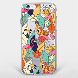 Flamingos And Tucans Phone Case
