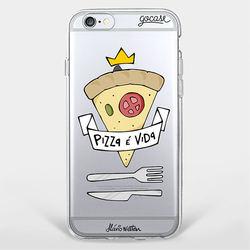 Capinha para celular Pizza É Vida