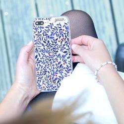 Capinha para celular Blue Folhas