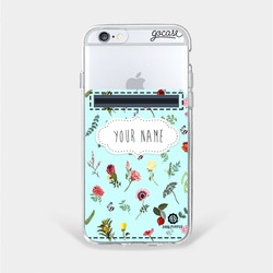Flowers In Blue - Wallet Phone Case