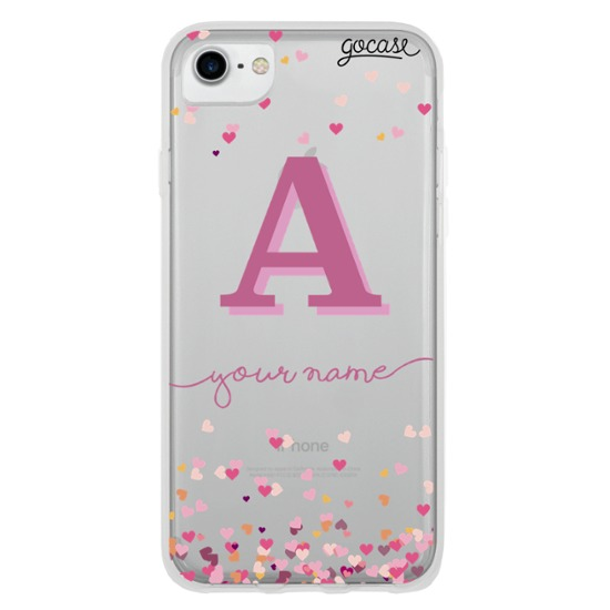 Hearts Initial Pink